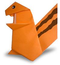اوریگامی سنجاب
